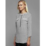 Zip Front Striped Blouse deal