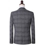 Plus Size Lapel Single Breasted Tartan Long Sleeve Three-Piece Suit ( Blazer + Waistcoat + Pants ) deal
