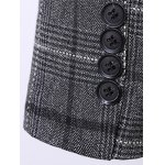 Plus Size Lapel Single Breasted Tartan Long Sleeve Three-Piece Suit ( Blazer + Waistcoat + Pants ) photo