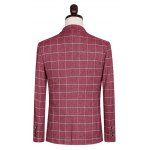 Plus Size Lapel Single Breasted Checked Pattern Long Sleeve Three-Piece Suit ( Blazer + Waistcoat + Pants ) deal