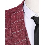 Plus Size Lapel Single Breasted Checked Pattern Long Sleeve Three-Piece Suit ( Blazer + Waistcoat + Pants ) for sale