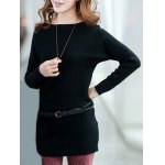 cheap Long Sleeves Knitted Mini Dress