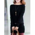 Long Sleeves Knitted Mini Dress for sale