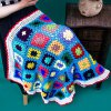 Lacy Knitting Comfortable Checkered Hollowed Blanket For Kids