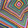 Ethnic Style Knitted Rhombus Geometry Soft Sofa Blanket for sale