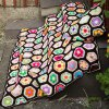 Comfortable Knitted Hexagon Blanket and Pillow Bedding Set deal