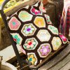 Comfortable Knitted Hexagon Blanket and Pillow Bedding Set for sale