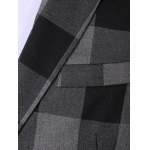 best Plus Size Lapel Single Breasted Checked Long Sleeve Three-Piece Suit ( Blazer + Waistcoat + Pants )