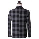 Plus Size Lapel Single Breasted Checked Long Sleeve Three-Piece Suit ( Blazer + Waistcoat + Pants ) deal