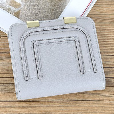 Metal Snap Closure Stitching Coin PurseMetal Snap Closure Stitching Coin Purse<br><br>Gender: For Women<br>Style: Casual<br>Closure Type: No Zipper<br>Pattern Type: Solid<br>Main Material: PU<br>Length: 11CM<br>Width: 1.5CM<br>Height: 9.5CM<br>Weight: 0.098kg<br>Package Contents: 1 x Coin Purse