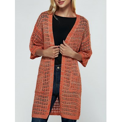 Brief Women's Hollow Out Knitted Cardigan