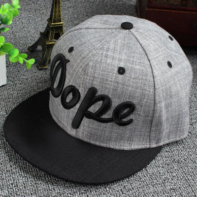 Stylish Hollow Out Stereo Letters Embroidery Baseball Cap For Men