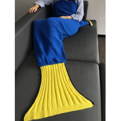 Super Soft Crocheted Knitted Fish Tail Shape Blanket