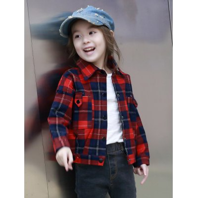 Turn-Down Collar Pocket Design Plaid JacketGirls Clothing<br>Turn-Down Collar Pocket Design Plaid Jacket<br><br>Clothes Type: Jackets<br>Material: Cotton,Polyester<br>Type: Slim<br>Clothing Length: Regular<br>Sleeve Length: Full<br>Collar: Turn-down Collar<br>Pattern Type: Solid<br>Embellishment: Pockets<br>Style: Casual<br>With Belt: No<br>Weight: 0.301kg<br>Package Contents: 1 x Jacket