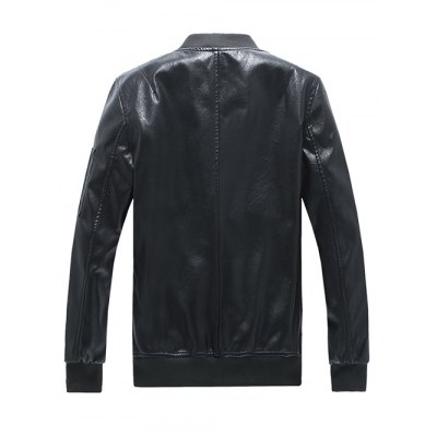 Rib Spliced Zip Up Long Sleeve Faux Leather JacketPlus Size Outerwear<br>Rib Spliced Zip Up Long Sleeve Faux Leather Jacket<br><br>Clothes Type: Jackets<br>Style: Fashion<br>Material: Faux Leather,Polyester<br>Collar: Stand Collar<br>Clothing Length: Regular<br>Sleeve Length: Long Sleeves<br>Season: Fall,Spring<br>Weight: 0.650kg<br>Package Contents: 1 x Jacket