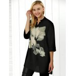 Flower Print Chiffon Loose Blouse deal