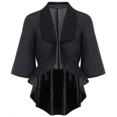 3/4 Sleeve Asymmetrical Slimming Outerwear