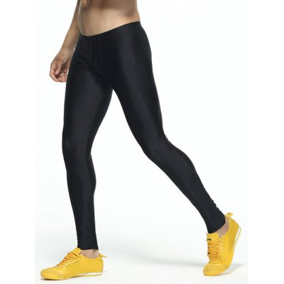 Solid Skinny Elastic Waist Gym PantsWeight Lifting Clothes<br>Solid Skinny Elastic Waist Gym Pants<br><br>Material: Polyester<br>Pattern Type: Solid<br>Weight: 0.250kg<br>Package Contents: 1 x Pants