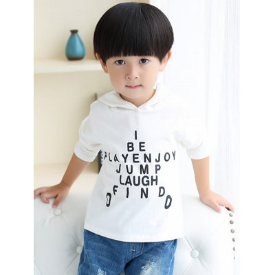 Letter Printing Cotton Blend Hoodie