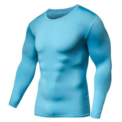 Round Neck Long Sleeve Fitness T-Shirt
