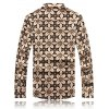 cheap Palace Floral Printed Plus Size Turn-Down Collar Long Sleeve Shirt