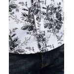 best Tiny Floral Printed Plus Size Turn-Down Collar Long Sleeve Shirt