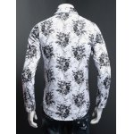 Tiny Floral Printed Plus Size Turn-Down Collar Long Sleeve Shirt deal