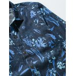 Flower Print Plus Size Long Sleeve Jean Shirt deal