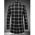Checked Plus Size Turn-Down Collar Long Sleeve Single-Breasted Coat deal