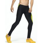 cheap Color Splicing Skinny Elastic Waist Gym Pants