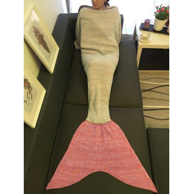 Super Soft Sleeping Bags Yarn Knitted Circle Design Mermaid Tail Blanket