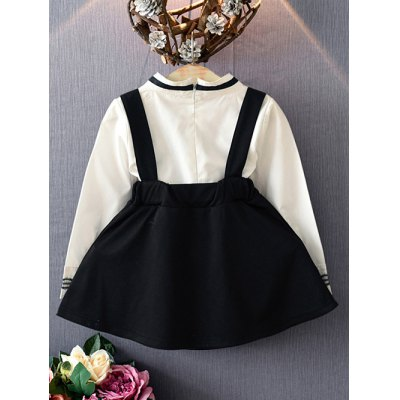 Bowknot Neck Printed Blouse + Suspender Skirt SetGirls Clothing<br>Bowknot Neck Printed Blouse + Suspender Skirt Set<br><br>Material: Cotton Blend<br>Clothing Length: Regular<br>Sleeve Length: Full<br>Style: Casual<br>Pattern Style: Print<br>Weight: 0.221kg<br>Package Contents: 1 x Blouse  1 x Skirt