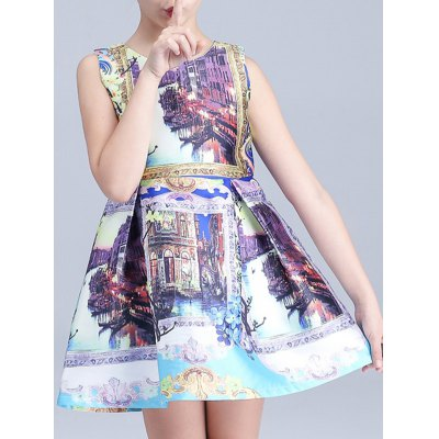 Scenery Print Mini Princess DressGirls Clothing<br>Scenery Print Mini Princess Dress<br><br>Style: Cute<br>Material: Polyester<br>Silhouette: A-Line<br>Dresses Length: Mini<br>Neckline: Round Collar<br>Sleeve Length: Sleeveless<br>Pattern Type: Print<br>With Belt: No<br>Season: Summer<br>Weight: 0.164kg<br>Package Contents: 1 x Dress