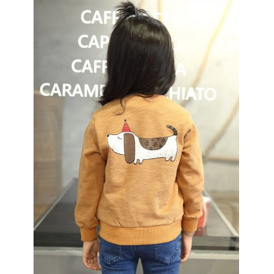 Zip Up Cartoon Print Jacket