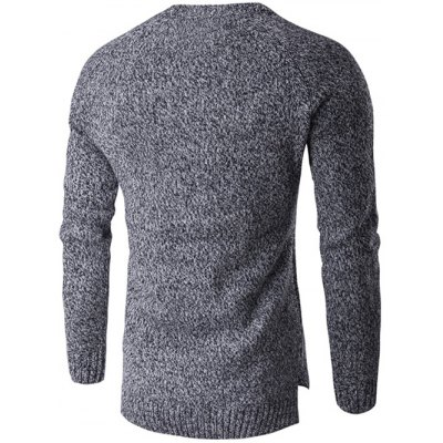 Round Neck Knit Blends Long Sleeve Sweater