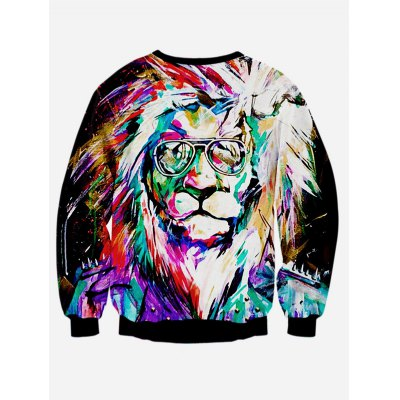 Colorful Lion 3D Print Long Sleeve SweatshirtMens Hoodies &amp; Sweatshirts<br>Colorful Lion 3D Print Long Sleeve Sweatshirt<br><br>Material: Polyester<br>Package Contents: 1 x Sweatshirt<br>Shirt Length: Regular<br>Sleeve Length: Full<br>Style: Casual<br>Weight: 0.347kg