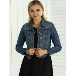 cheap Hollow Out Pocket Design Topstitching Jacket