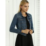 Hollow Out Pocket Design Topstitching Jacket for sale