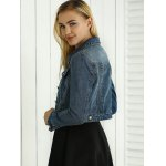 Hollow Out Pocket Design Topstitching Jacket photo