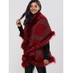 Batwing Sleeves Tiered Furry Coat deal