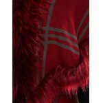 Batwing Sleeves Tiered Furry Coat photo