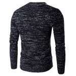 cheap Round Neck Knit Blends Geometric Pattern Long Sleeve Sweater