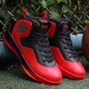 Buy Color Splice High Top Athletic Shoes 44 RED