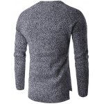 cheap Round Neck Knit Blends Long Sleeve Sweater