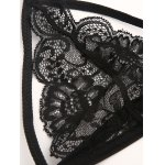 Halter High Waisted Hollow Out Lace Bra Set for sale
