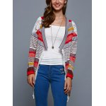 cheap Colorful Print Thin Cardigan