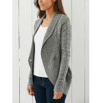 Stylish Shawl Collar Long Sleeve Slimming Women's Cable Cardigan deal