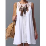 Women's Trendy Lace Spliced Sleeveless Dress