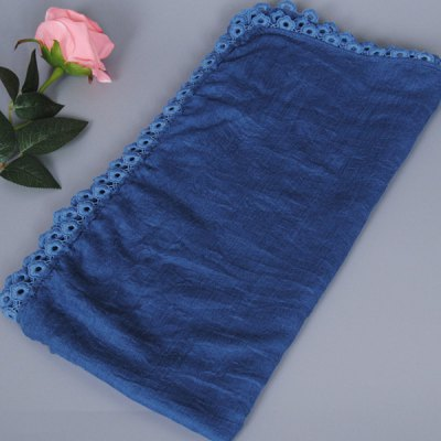 Autumn Flower Lace Edge Solid Scarf