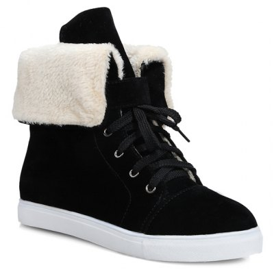 Casual Lace-Up Turn Down Short Boots